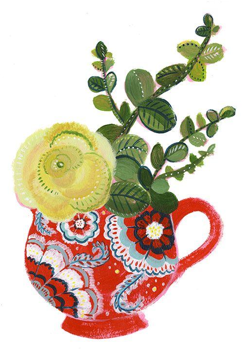 10 best images about floral illustration on pinterest