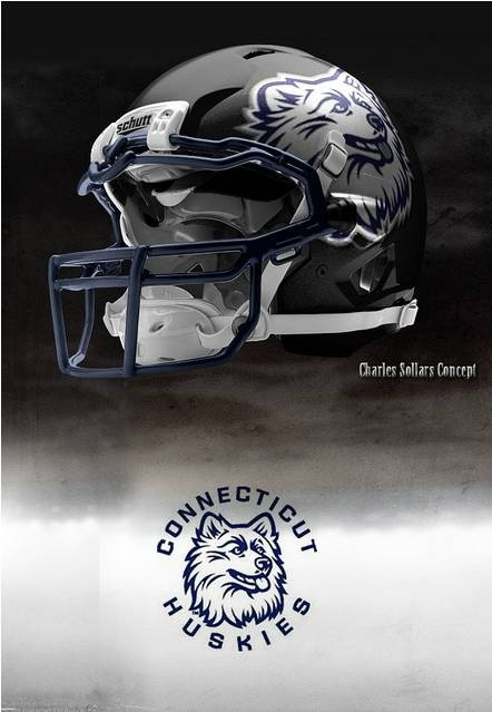 UConn - University of Connecticut Huskies - concept football helmet