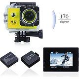 Cheap Waterproof Sports Action CameraCanany diving Camera 1080P FHD 12MP 1.5Inch Bundle With 2 Batteries and FREE Accessories... sale