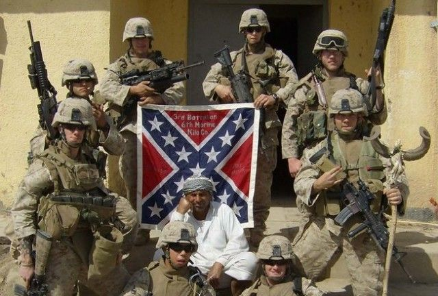 People of Color – Under Confederate Battle Flag Colors