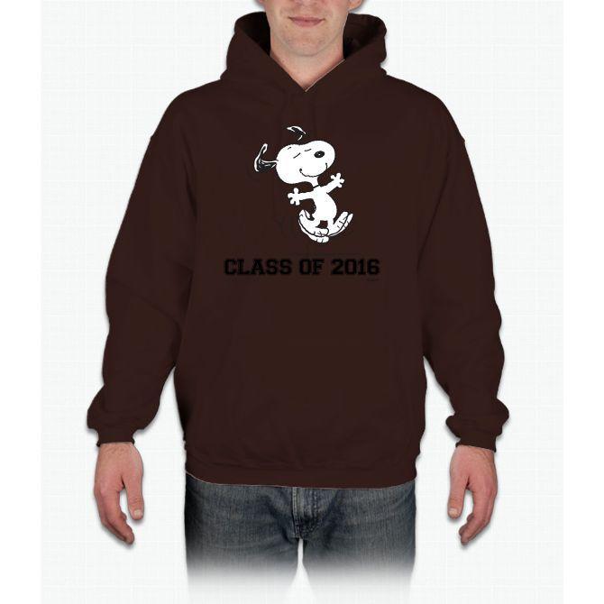 Dancing Snoopy Graduate 2 Charlie Brown Hooded Sweatshirt