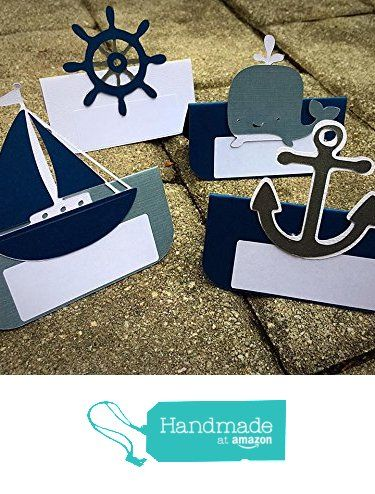 12 Mixed Nautical Themed Place Cards/ Food Labels- Navy & Grey - Customize from Mia Sophias https://www.amazon.com/dp/B017JHEFRK/ref=hnd_sw_r_pi_dp_xPnHybGNFJ75E #handmadeatamazon