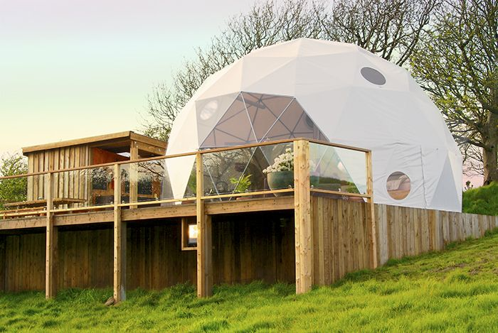 The Pod - Loveland Farm Caravan and Camping Site, Hartland, Devon Geodesic Dome at Loveland Farm, Devon England. Check www.Canopyandstars.co.uk