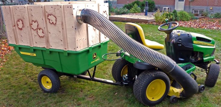 Leaf Vacuum Mulcher Lawn Tractor