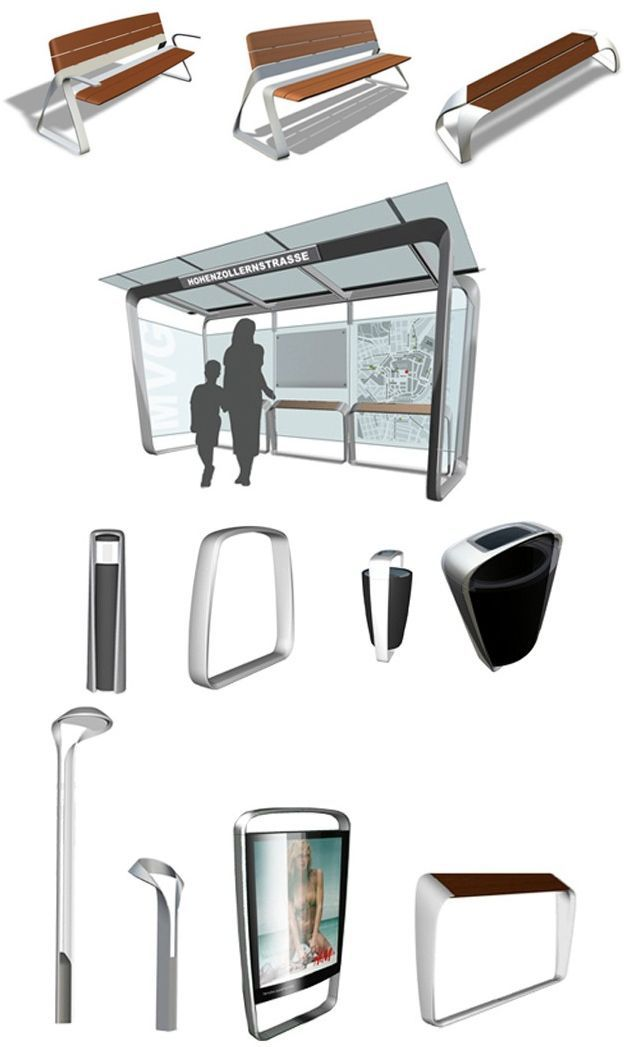 La nueva línea de mobiliario urbano de la BMW DesignworksUSA, llamada Metro40, fue diseñada especialmente para la empresa fabricante de mobiliario para exteriores Landscape Forms. Verena Kloos, pre…