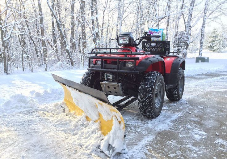 Winter is here. When the snow falls, the back breaking work of clearing it is never far behind. It doesn't have to be that way however. With ATV snow plow