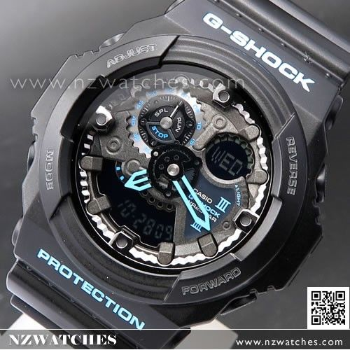 Casio G-Shock Black With Blue 200M Sport Watch GA-300BA-1A 7c1a00ce9a