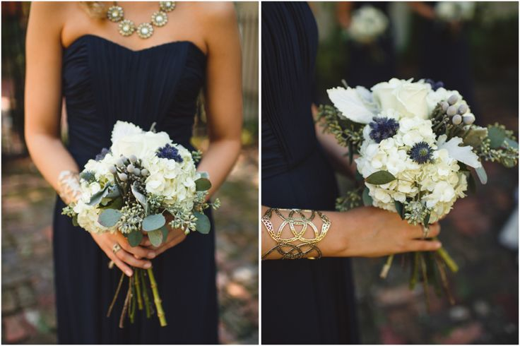 navy cream and gold wedding flowers // Spindle Photography