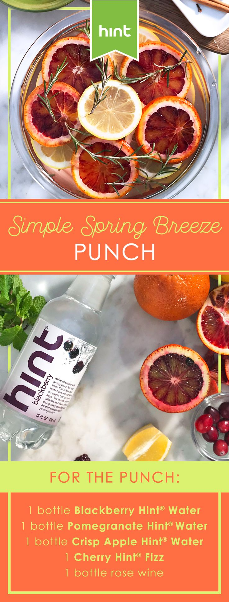 Hint® Simple Spring Breeze Punch!