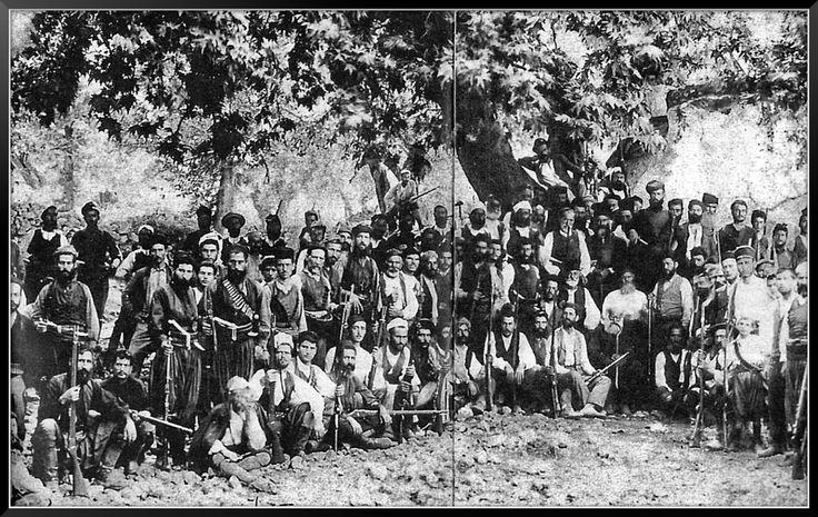 Κρητικοί επαναστάτες. Κάμποι Κυδωνίας, 1896.