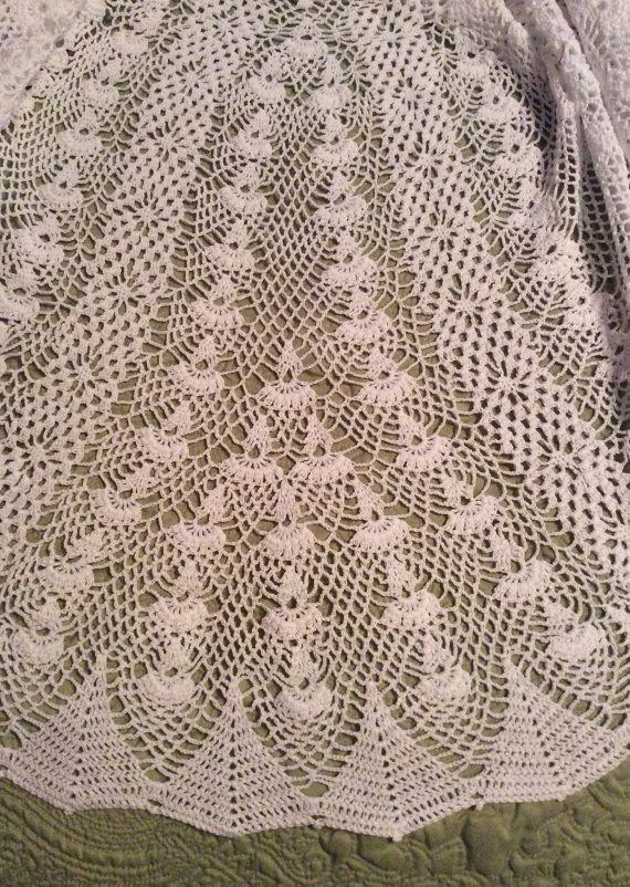 Heirloom Vintage style Christening gown crochet by EmporiumHouse