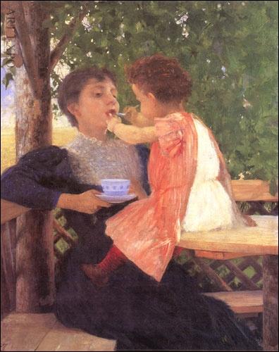 """""""Woman with her son"""",Georgios Iakovidis"""