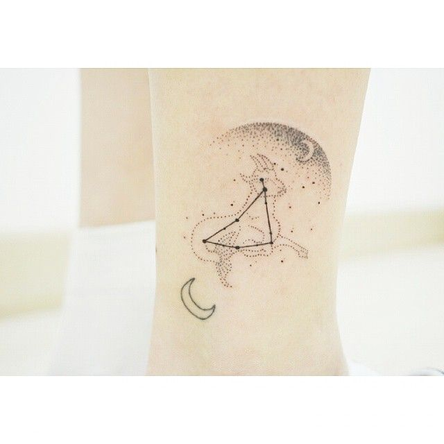 Capricorn Constellation Tattoo. | I'm a Capricorn so I might get something similar to this. So beautiful!