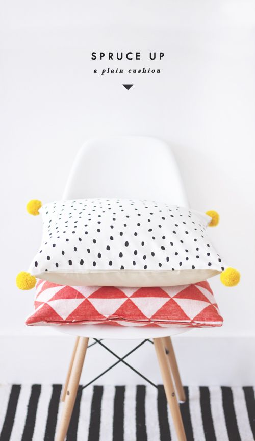 DIY patterned pillow cover! Love it.