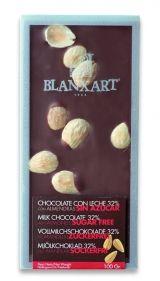 Blanxart 100g. Ciocolata fara zahar, cu lapte 33%, cu migdale