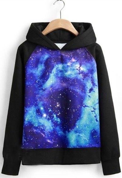 Stars Sky Long Sleeved Sweatshirt Hoodies