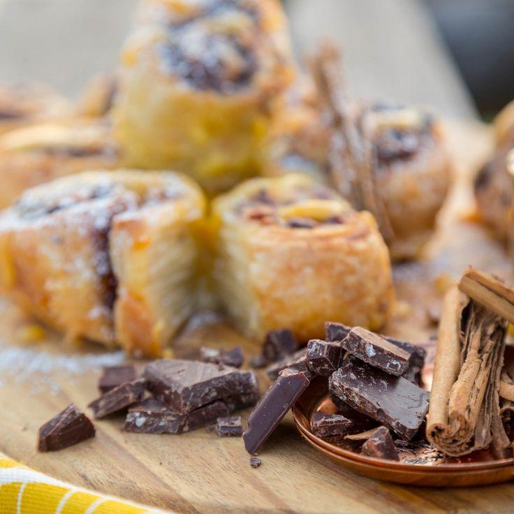 Chocolatey Cinnamon Rolls - Menu 1 from Sarah Graham's Food Safari - Episode 1 at the Antelope Park. #Chocolate #ChocolatFrey #UnicornOnSafari