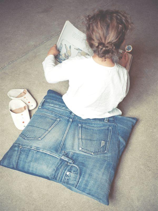 DIY jeans kussen