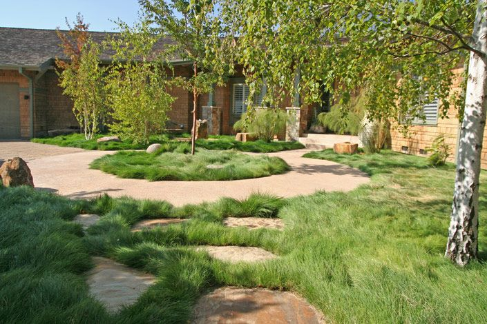 Building ideas: Backyard landscaping ideas no grass on No Mow Backyard Ideas id=61133