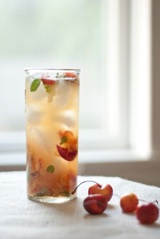 Rainier cherry mojito: a refreshing, naturally sweet cocktail for hot summer days.