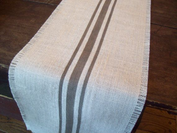 This Grain Sack Style Burlap Table Runner Puts A Modern Twist On A Classic  Style.
