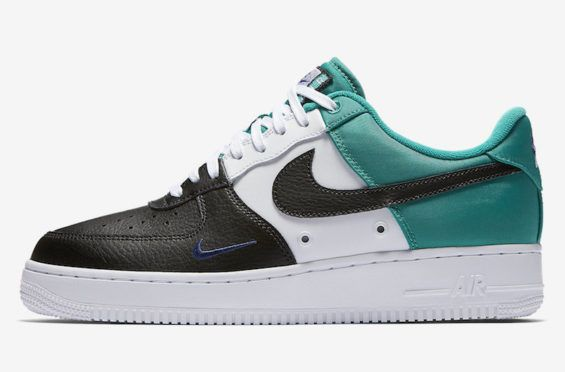 new product d5f3a e08aa Official Images  Nike Air Force 1 Low Mini Swoosh Neptune Green