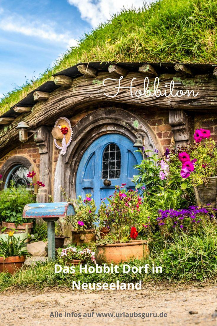 Lasst euch von den hübschen Kulissen des Hobbit Dorfes Hobbiton in Neuseeland verzaubern. Neuseeland hat mit den Drehorten der Hobbit- und Herr der Ringe Filme voll ins Schwarze getroffen.