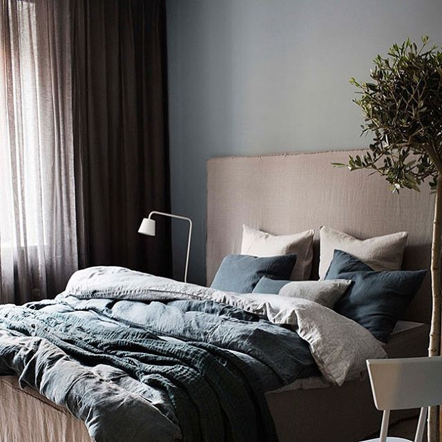 Soverommet er malt med LADY 4710 Duggblå. #ladyDuggblå #jotun