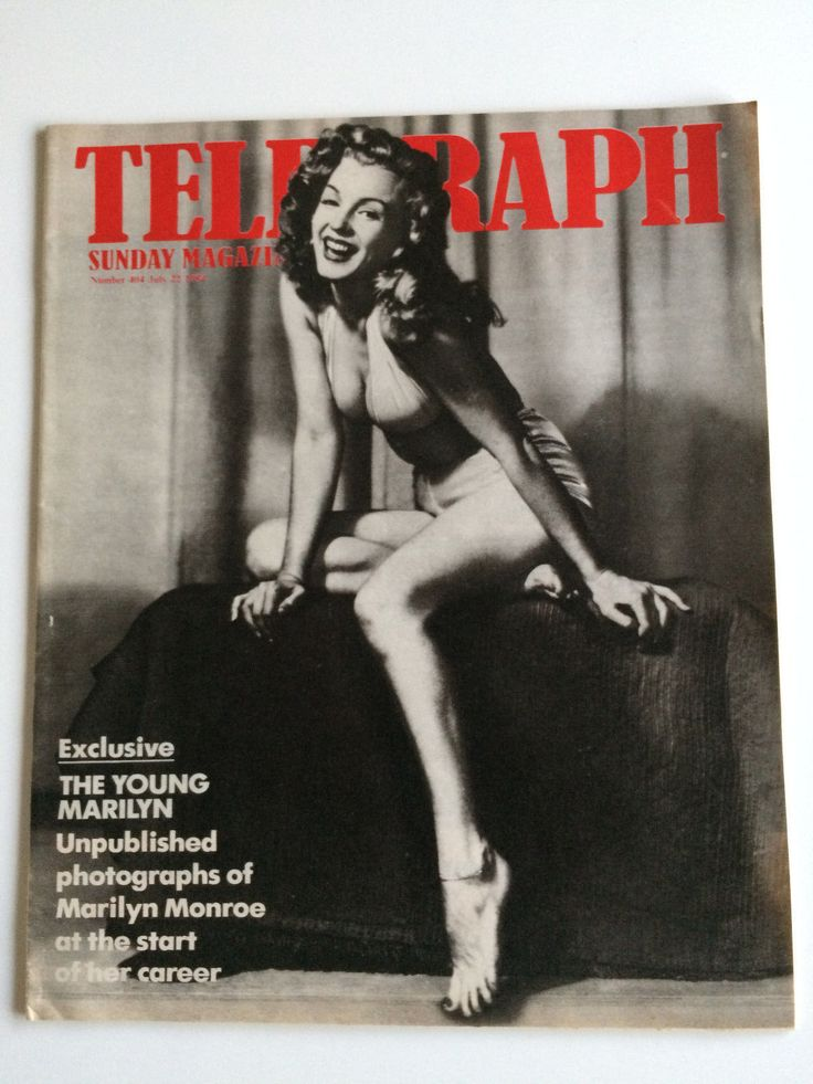 "Marilyn Monroe ""The Young Marilyn"" UK Sunday Telegraph Magazine Earl Moran 