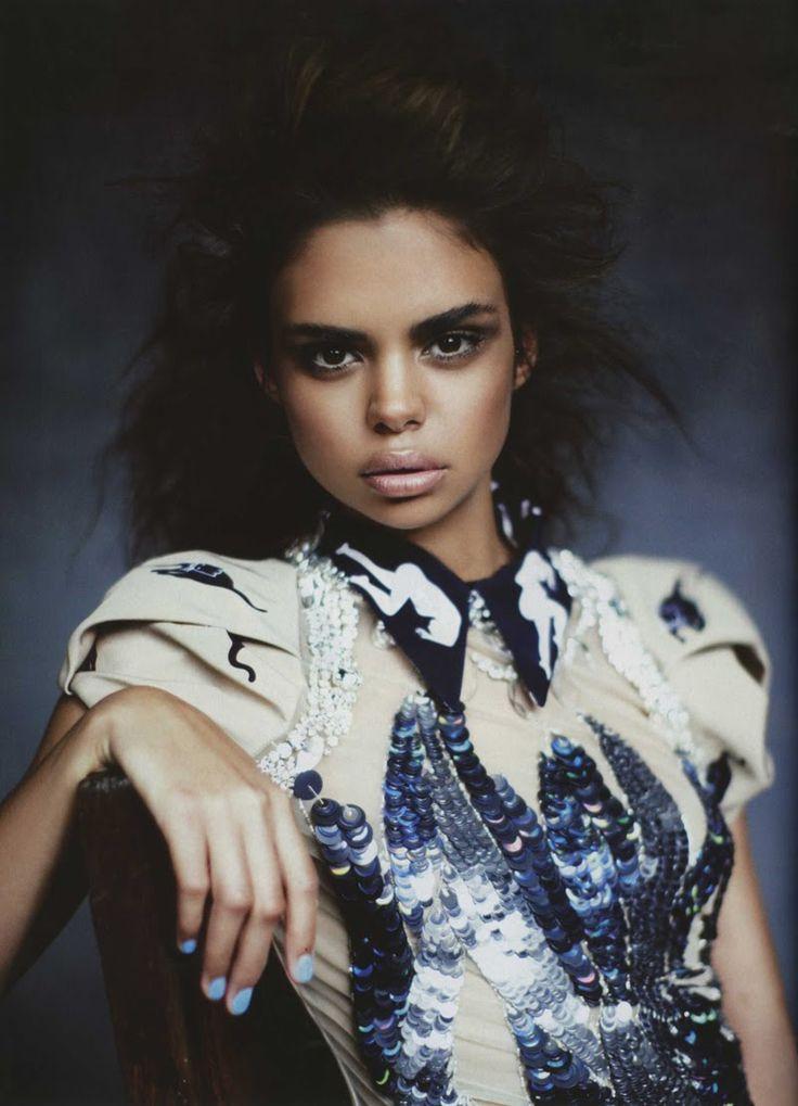 lovelostfashionfound:Samantha Harris - Vogue Australia March 2010  study women | be studied