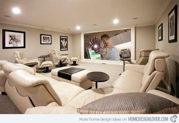 Elegant Media Room Design