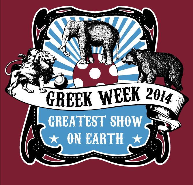 https://flic.kr/p/noZ7kS | Circus theme Greek Week | Circus theme Greek Week shirt- the greatest show on earth.