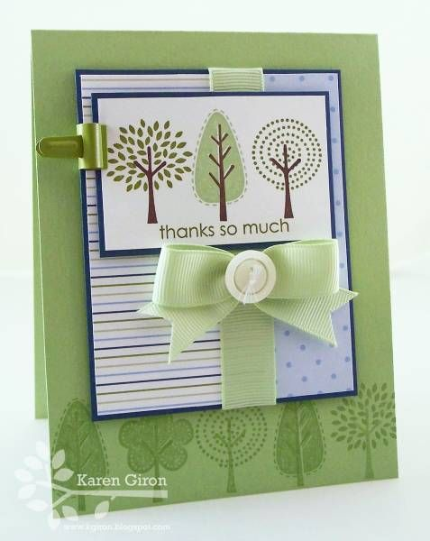 """Uses Stampin' Up!'s """"Trendy Trees"""""""
