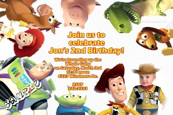 Toy Story 3 Fun Birthday Invitations   Get these invitations RIGHT NOW. Design yourself online, download and print IMMEDIATELY! Or choose my printing services.   No software download is required. Free to try!