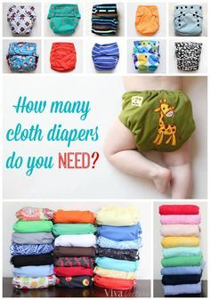 Ever wonder how many #clothdiapers you'll need? According to this article about 32 newborn, 26 regular