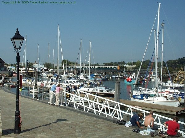 Lymington town quay - sailed here as a child