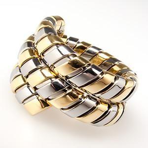 bvlgari serpenti tubogas coil snake ring 18k gold u0026 steel bulgari