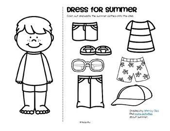 Summer Clothes Dress Boy And Girl Free Clothes Worksheet