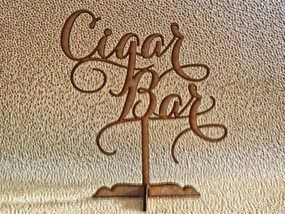 www.psweddingsandevents.com This listing is for 1 Cigar Bar sign. What is the approximate size of this sign? It is 13 inches tall, and 12 inches wide. We have laser cut it from 1/8 inch recycled fiber board. What colors does it come in? You can choose the color youd like