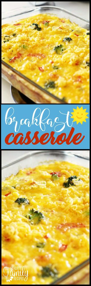 Elise's Breakfast Casserole is an easy breakfast or brunch idea when feeding a crowd. Light but filling, it is delicious any time of the day! via @favfamilyrecipz