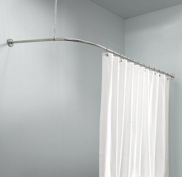 Curtains Ideas cover for shower curtain rod : 17 best ideas about Corner Curtain Rod on Pinterest | Corner ...