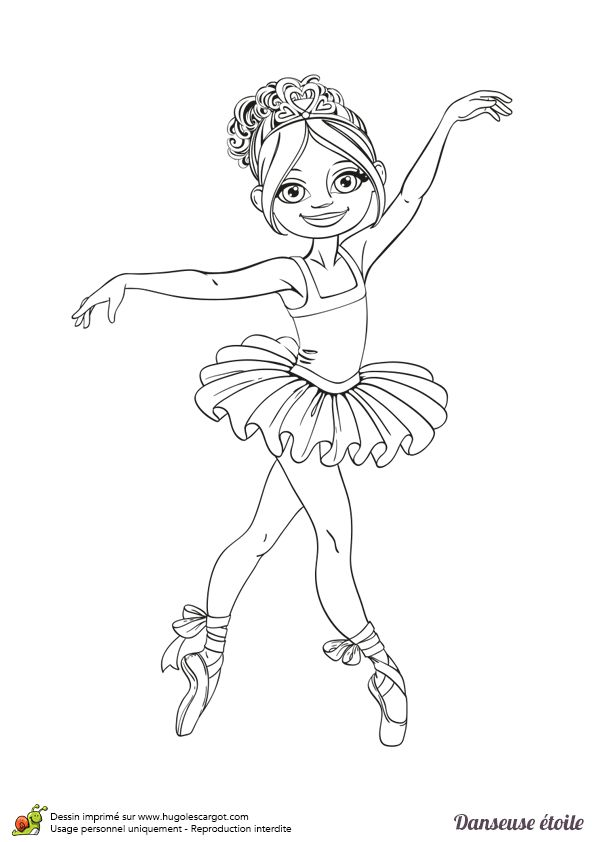 61 best images about coloriages de danse on pinterest - Danseuse dessin ...