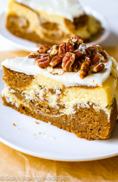 Pumpkin Cake Cheesecake.