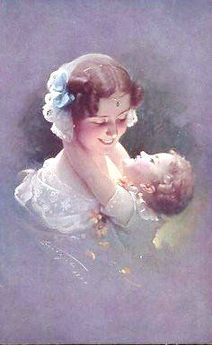 Vintage Mother's Day Postcard. .