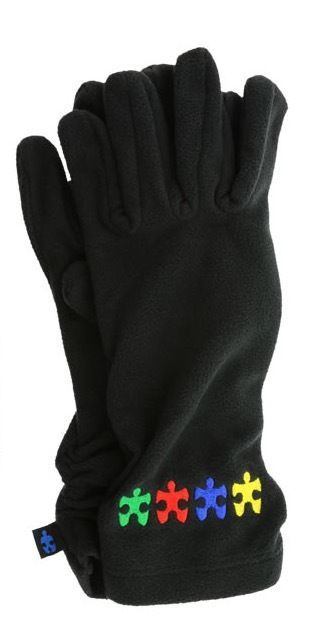 Plush Autism Awareness Puzzle Fleece GLOVES - Helps Sharonsweb #AutismAwareness #Gloves