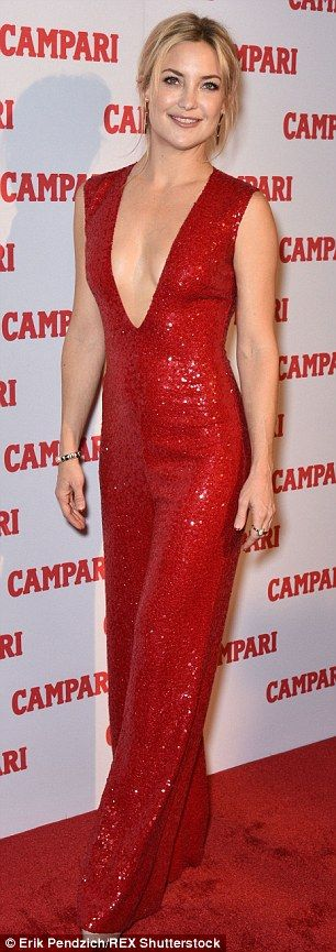 Kate Hudson shimmers as she takes the plunge in a jumpsuit at Campari event | Daily Mail Online