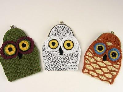 OWL CROCHETED COIN PURSES