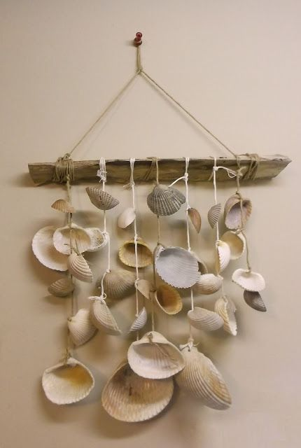 The Sea Shell Wind Chime- a wind chime I created out of palmetto fronds and shells from Folly Beach. #lowcountry
