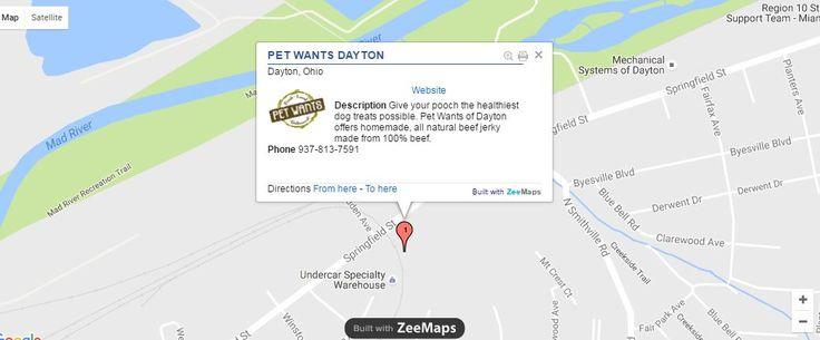 Map - Pet Wants Dayton. Buy High Quality Dog Food Online.