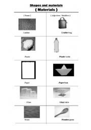 English worksheet: material